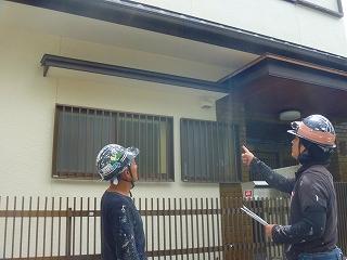 京都、滋賀、近畿圏内の壁・屋根の塗り替えの検査の様子