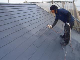 京都、滋賀、近畿圏内の壁・屋根の塗り替えの施工管理の様子